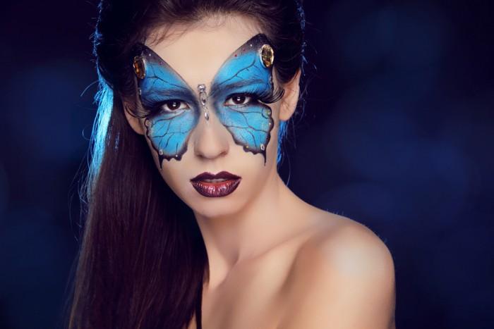 Бабочка макияж