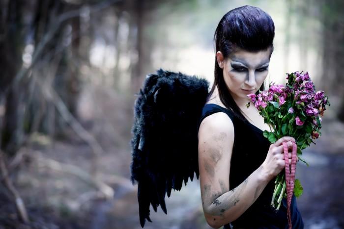 темный ангел макияж
