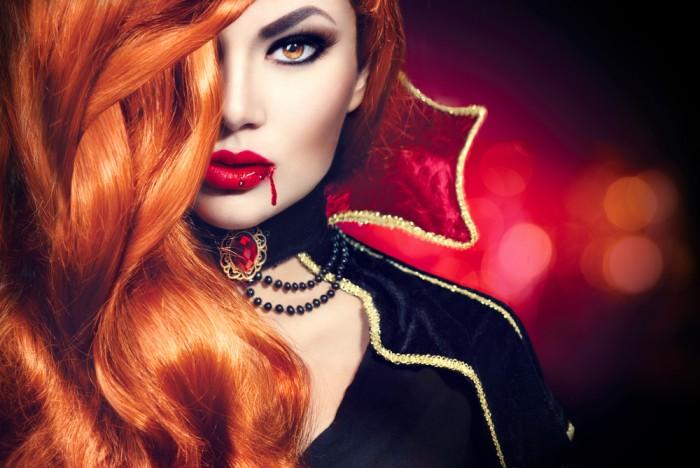 Вампирская кожа и специальное контурирование лица макияж