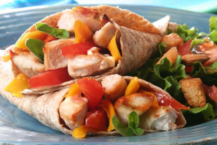 Тарталья с курицей и овощами