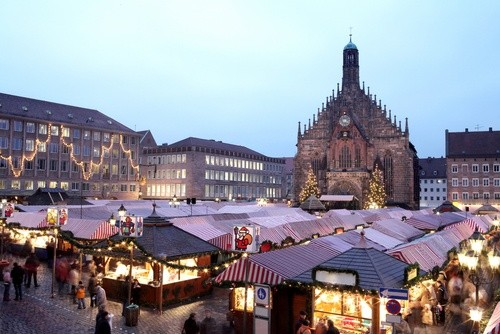Рождественский ярмарок в Нюрнберге, Германия