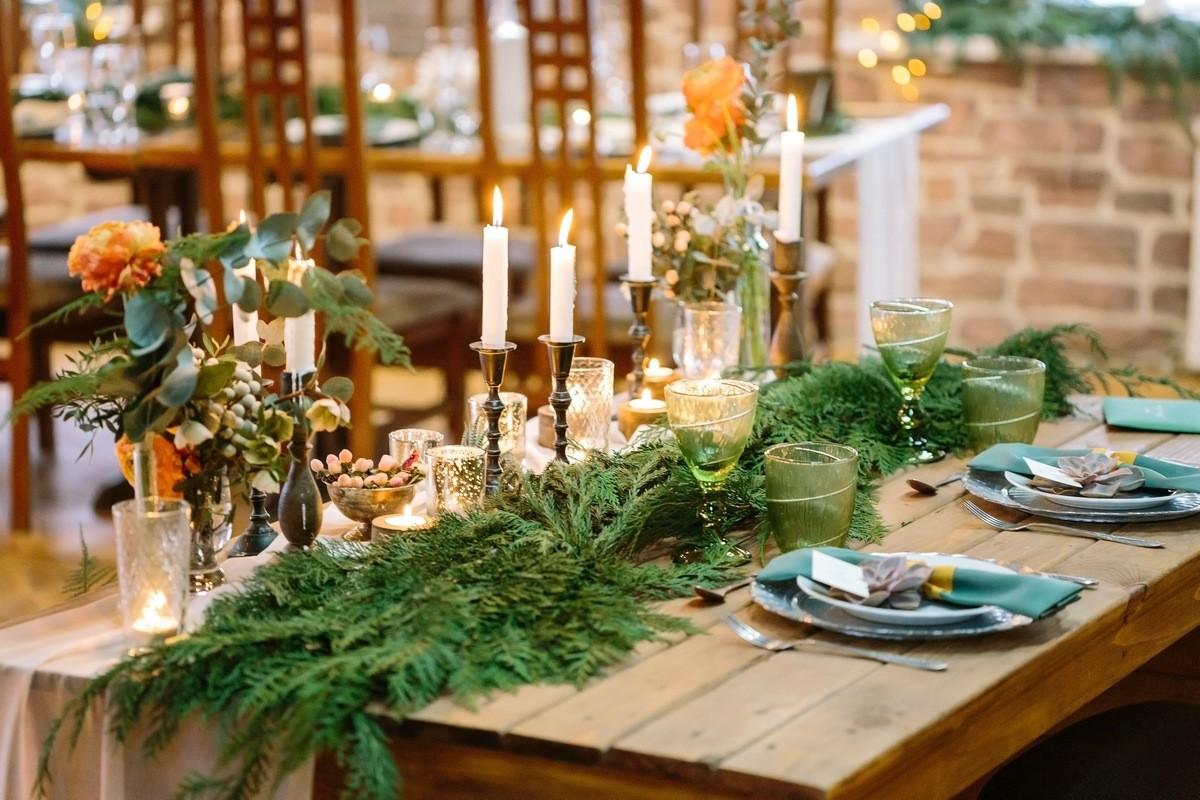 Немного зимней зелени 12 замечательных идей для зимней свадьбы
