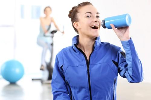 Синий образ для тренировок