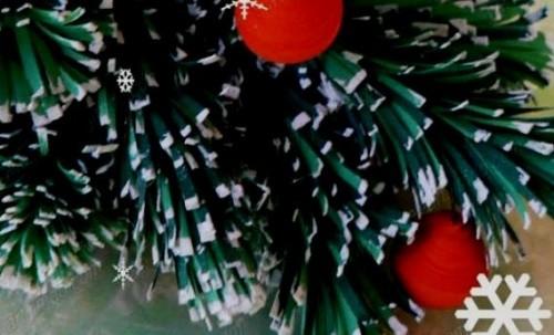 Елочка и Новогодние Шары по Технике Квиллинг