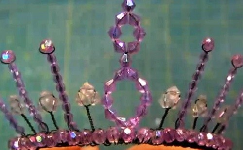 Корона из Бисера Для Принцессы к Новому Году