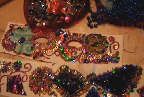 Декор маски и пояса для новогоднего костюма