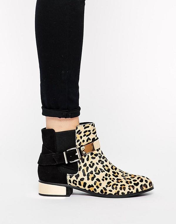 Леопардовые полусапожки