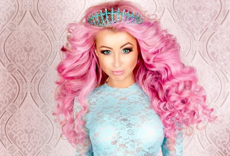 Секс розовые волосы