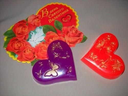 Подарочное мыло «Бабочки в сердце»