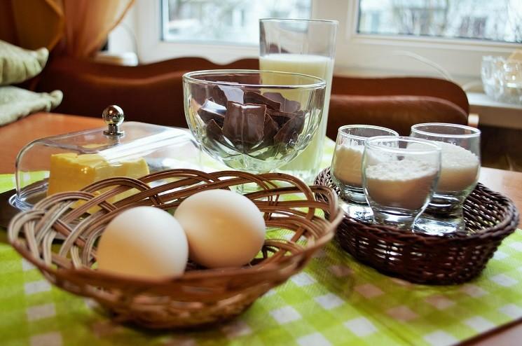 Шоколадный мусс с заварным кремом