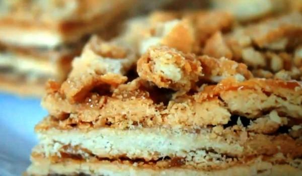 Пирожное с варёной сгущёнкой