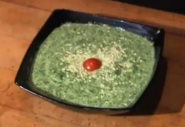 Способ приготовления супа из шпината