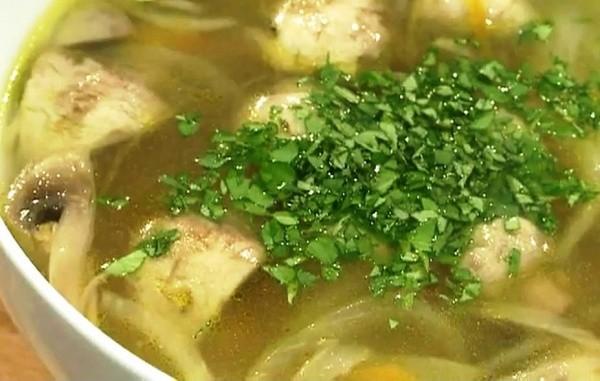 Способ приготовления супа с белыми грибами