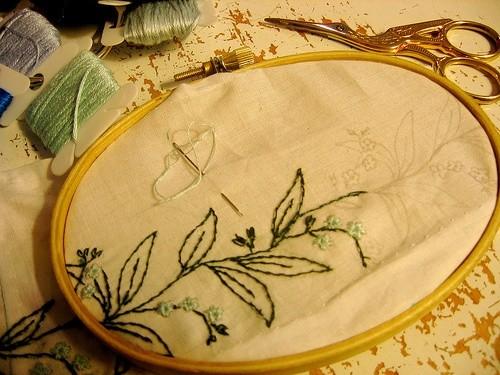 Подготовка к вышиванию