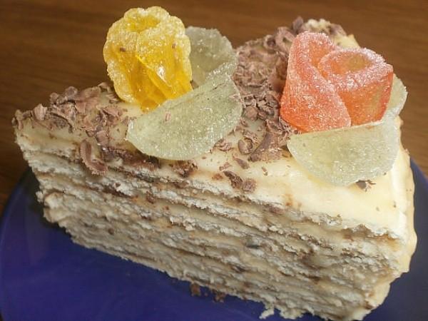 Торт на сковороде печенный