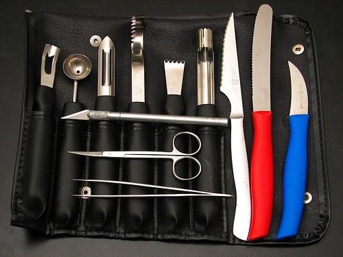 Инструменты для декорирования блюд по технике карвинг