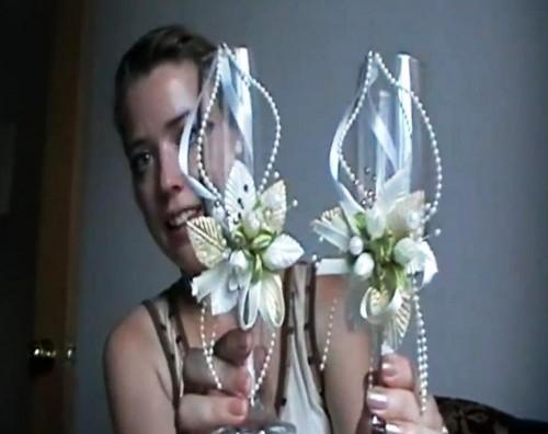 Свадебные бокалы своими руками видео фото