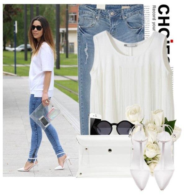 Образ с белой футболкой 5