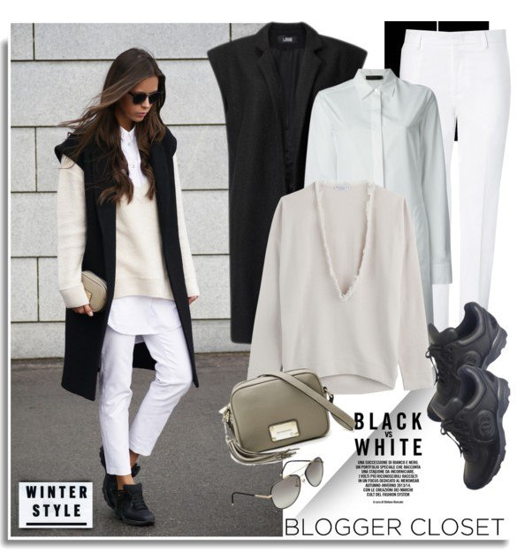 Образ в классической белой рубашке 1