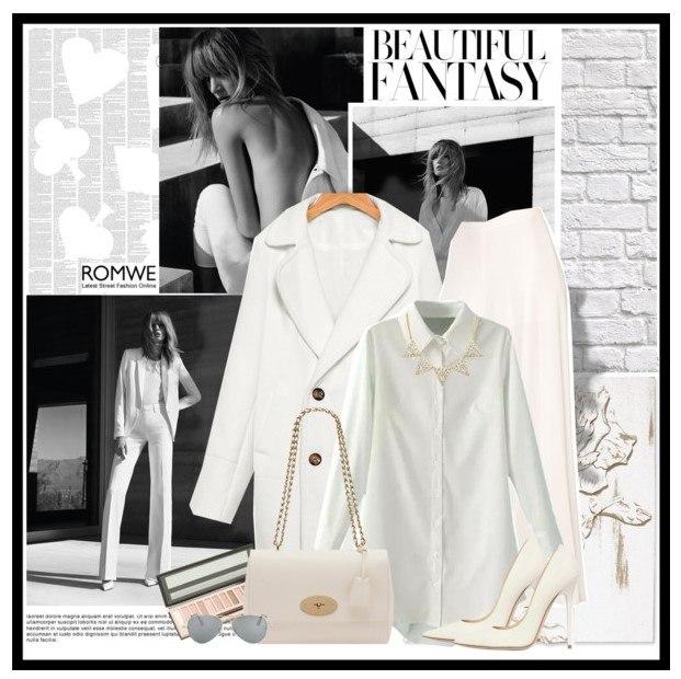 Образ в классической белой рубашке 2