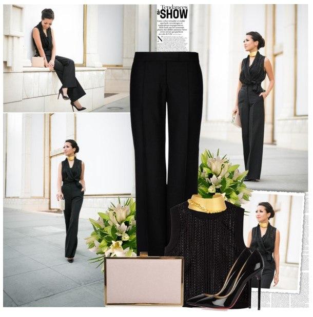 Образ в классических черных брюках 1