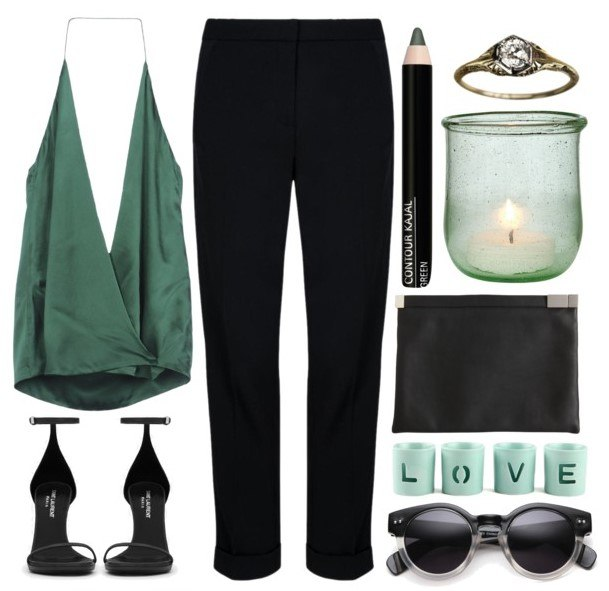 Образ в классических черных брюках 3