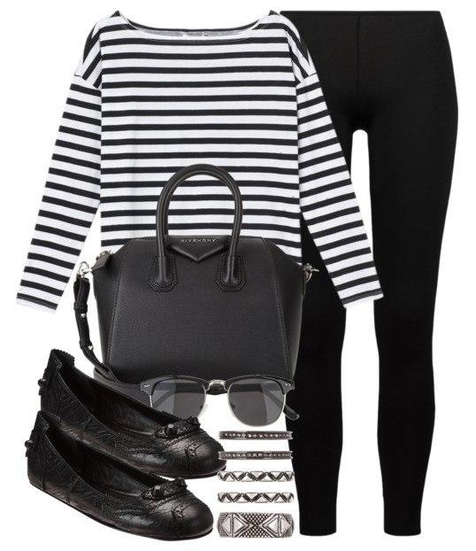 Образ в классических черных брюках 4