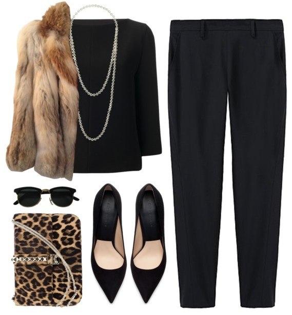 Образ в классических черных брюках 5