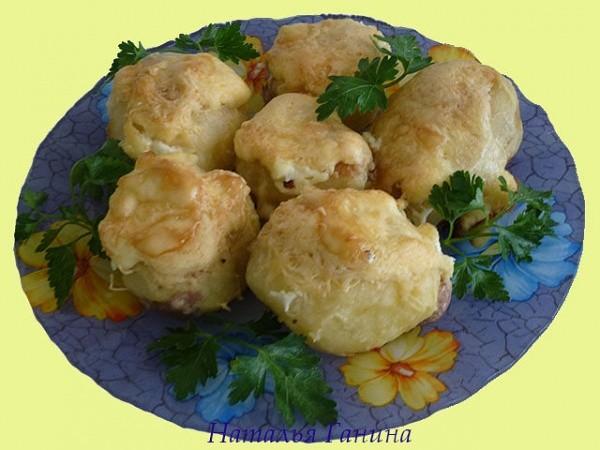 Рецепт приготовления картофеля с мясным фаршем