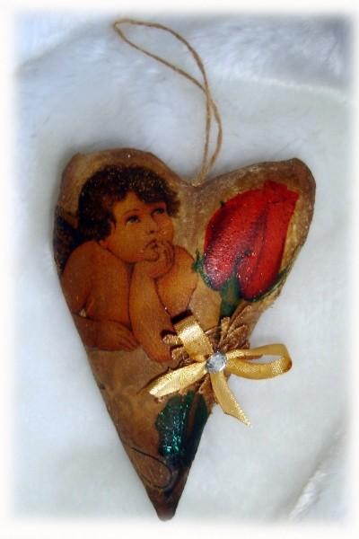 Валентинка с запахом шоколада Купидон