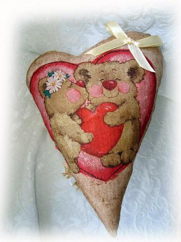 Валентинка с запахом шоколада - Мишкино сердце