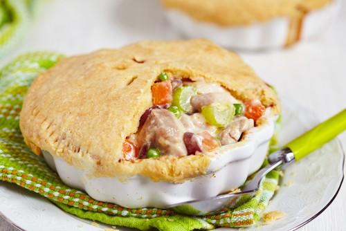 Пирог из курицы и картофеля
