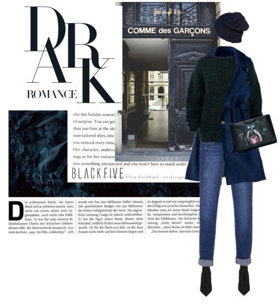 Образ в темных джинсах 1