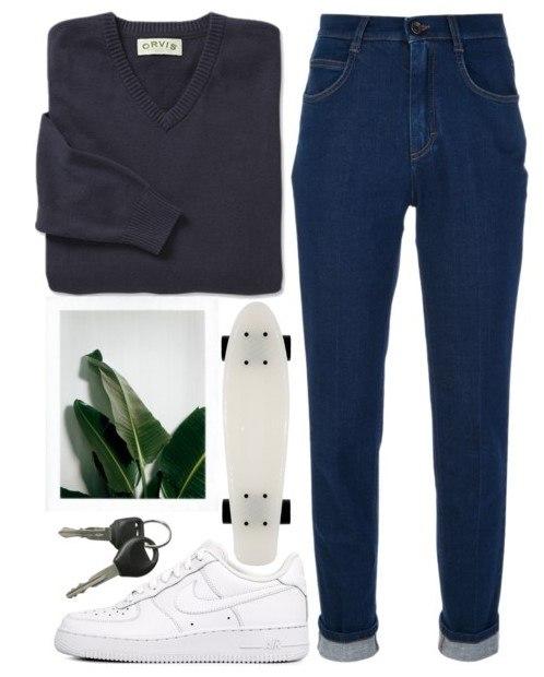 Образ в темных джинсах 4