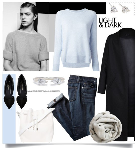 Образ в темных джинсах 5