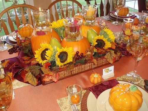 Как украсить тол на День Благодарения