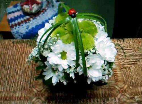 Очаровательная Мини-Корзинка из Живых Цветов