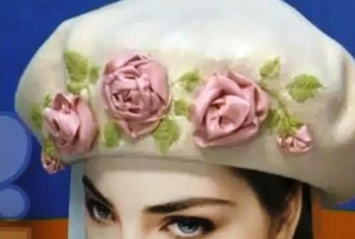 Вышивка Розы и ее Листьев