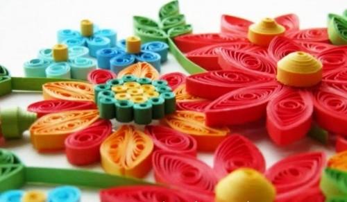 Картина из Цветов при Помощи Техники Квиллинг