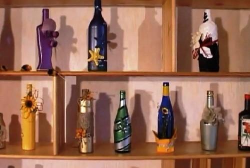 Декорирование Простых Бутылок