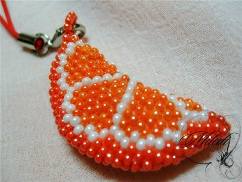 Плетение Брелка-Апельсина
