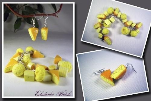 Комплект из полимерной глины «Сыр»