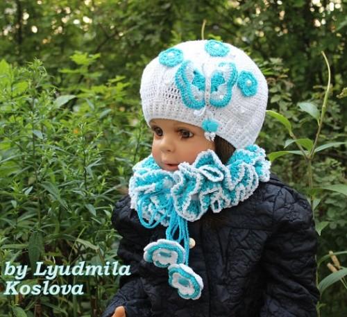 Вязаные шапочки для деток «Королева»