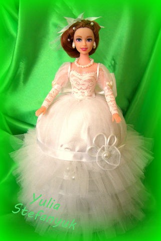 Кукла-шкатулка Невеста по технике шитья