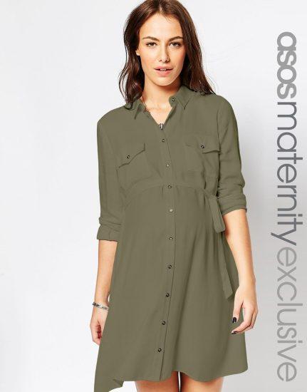 платье с поясом под грудью для беременных