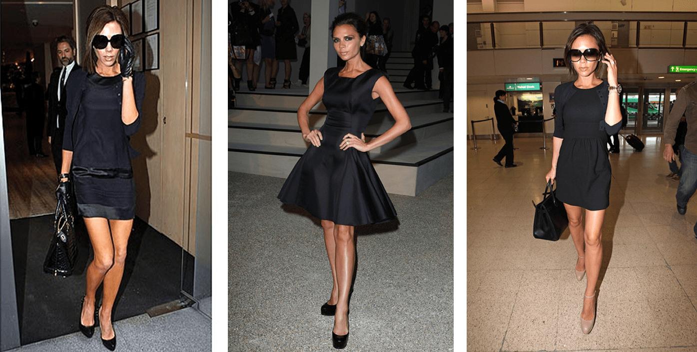 Виктория Бекхэм в маленьком черном платье