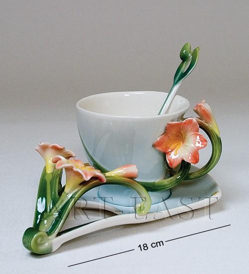 Чайные пары и вазы из коллекции Pavone FM 3