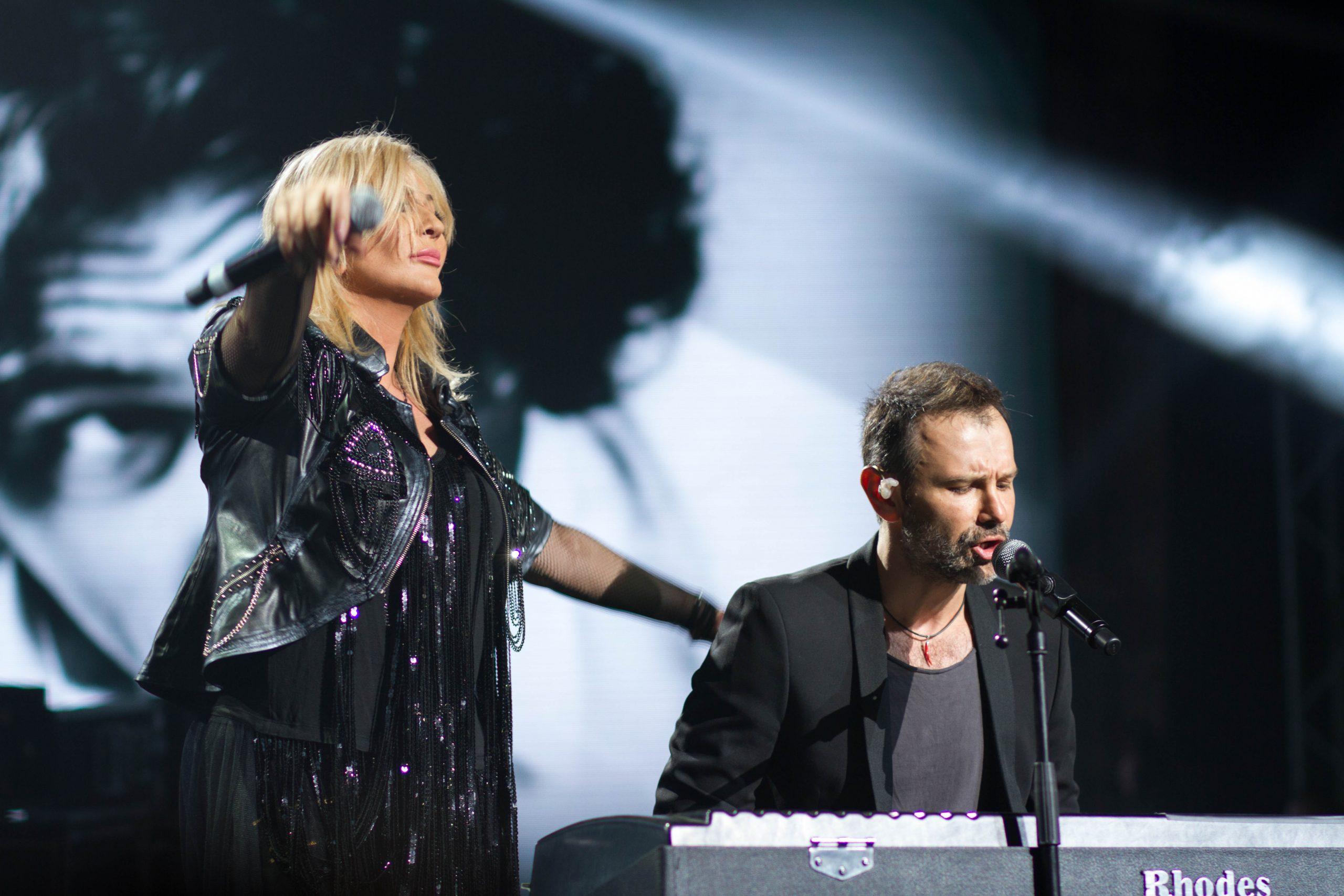 Ирина Билык и Святослав Вакарчук на концерте памяти Андрея Кузьменко (Скрябин)