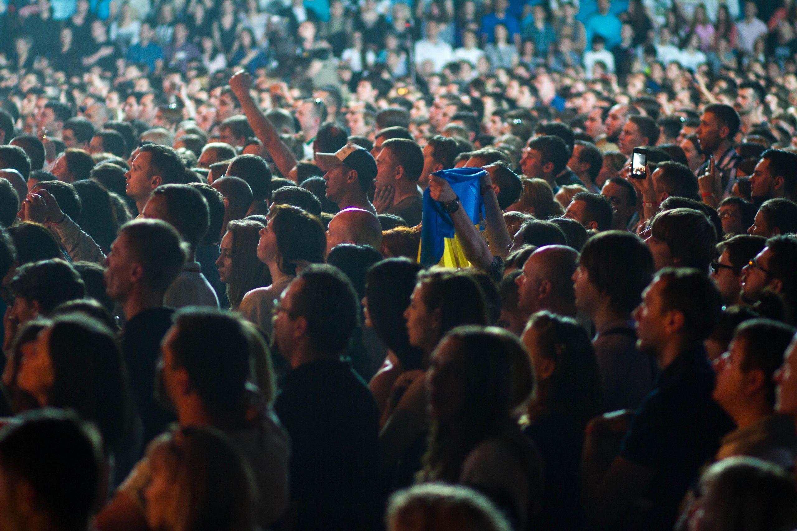 Зрители концерта памяти Андрею Кузьменко в Киеве 2