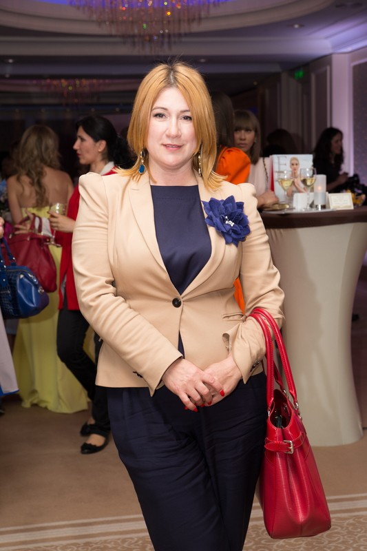Маргарита Сичкарь на показе от украинского женского бренда одежды
